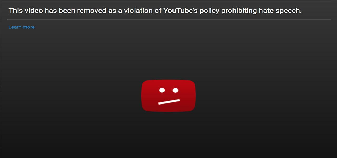 How YouTube handles Hate Speech
